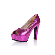 Women's Heels Spring Summer Fall Platform Comfort Club Shoes Light Up Shoes PU Wedding Dress Party & Evening Spool Heel PlatformBlue