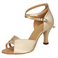 Sapatos de Dança(Cinza / Outro) -Feminino-Personalizável-Latina / Jazz / Salsa / Sapatos de Swing