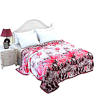 Super Suave Multi Cores,Estampado Floral / Botânico 100% Poliéster cobertores W200*L230cm