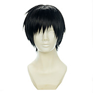 Durarara Orihara Izaya Black All-purpose Upturned Halloween Wig Synthetic Wig Costume Wigs