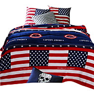 Bedtoppings Blanket Flannel Coral Fleece Queen Size 200x230cm Capatin America Prints Thick 310GSM