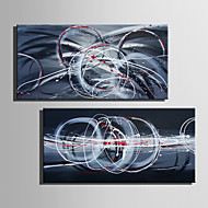 E-HOME® Stretched Canvas Art Abstract Pattern Decorative Painting Set of 2