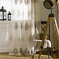 Two Panels Curtain European , Flower Bedroom Polyester Material Sheer Curtains Shades Home Decoration For Window