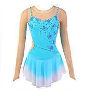 Ice Skating Dress Women's Slings Skating Dresses High Elasticity Figure Skating Dress Breathable / Wearable Flower(s)Spandex / Silk /