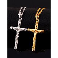 שרשראות מצופה זהב שרשראות תליון תכשיטים יום הולדת / יומי אופנתי / מתכווננת ציפוי זהב מוזהב / שחור / כסף 1pc מתנות