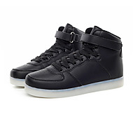Boy's Sneakers Spring / Fall Comfort PU / Cowhide Athletic Flat Heel Others / LED / Lace-up Black / Blue / White Sneaker