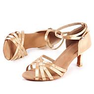 Sapatos de Dança(Dourado) -Feminino-Personalizável-Latina / Moderna / Salsa