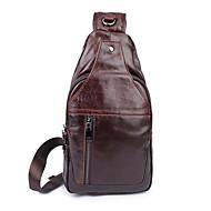 Homem Sling sacos de ombro Couro Ecológico Casual Marron