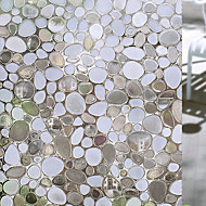 Window Film Window Decals Style Fashion Creative Cobblestone PVC Window Film - (100 x 45)cm