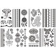 8 Tatoveringsklistermærker Smykke Serier Blomster Serier Ikke Giftig Mønster Stamme Nederste del af ryggen VandtætBarn Dame Pige Herre
