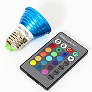 3W E26/E27 Lâmpadas de Foco de LED MR16 1 LED de Alta Potência 240 lm RGB Decorativa V 1 pç