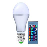 10W E14 / GU10 / B22 / E26/E27 LED chytré žárovky A70 9 High Power LED 1100 lm R GB Ozdobné / Stmívací / Dálkové ovládání V 1 ks