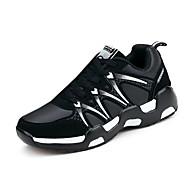 Damen-Sneaker-Lässig Sportlich-PU-Flacher Absatz-Komfort-Schwarz