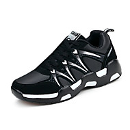 Dame-PU-Flat hæl-Komfort-Treningssko-Sport Fritid-Svart