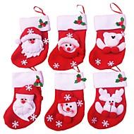 6kpl / paljon hyvää joulua sukkia joulukoristeita kotiin joulupukki lahja joulukoristeita koriste