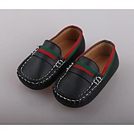 Boy's Loafers & Slip-Ons Comfort PU Casual Black White