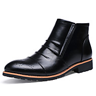 Men's Boots Spring Fall Winter Others Leather Casual Zipper Black Khaki Others