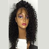 perwersyjne kręcone koronki Glueless przodu peruka z baby hair nieprzetworzonej Brazylijski dziewiczy ludzki włos dla kobiet