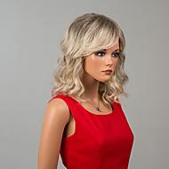 de comprimento médio capless perucas onda natural, perucas de cabelo humano ombre