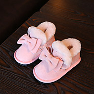 Girl's Baby Boots Winter Comfort Fur Casual Flat Heel Bowknot Black Pink Red Others