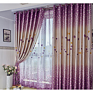 Dois Painéis Moderno Corações Como na Imagem Sala de Estar Poliéster Blackout Cortinas cortinas