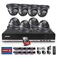 annke® DVR 16CH ecloud HDMI 1080p / VGA / 16pcs saída BNC 900tvl CMOS 42leds câmeras dia / noite IR-cut IP66