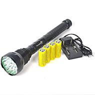 תאורה פנס LED / פנסי יד LED 18000 Lumens 1 מצב Cree XM-L T6 26650 אחיזה נגד החלקה / קל במיוחד מחנאות/צעידות/טיולי מערות גומי / מתכת
