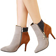 Women's Boots Spring / Summer / Fall / Winter Gladiator Fur Office & Career / Party & Evening / Dress / Casual Stiletto Heel Brown / Gray