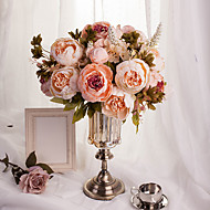 1 Bouquet Artificial Flowers 8 Heads Artificial Peonies Silk Flower Party Decoration Flower Wedding Christmas Home