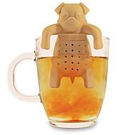 silikoni kahvi tee infuser koira mopsi teekannu kasviperäisten mauste siivilä suodatin lahja (random väri)