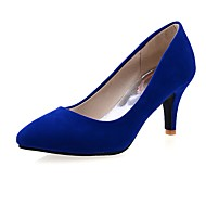 Women's Heels Spring Summer Fall Winter Comfort Fleece Office & Career Dress Party & Evening Cone Heel Black Blue Red Walking