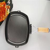 1PC Foldable Square Steak Frying Pan Non Stick Pan Pan Pan Black Cast Iron 24CM