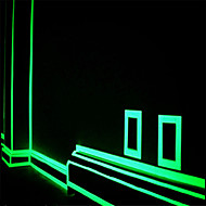 zöld fluoreszcencia matrica éjszaka világító szalag csík matrica dekoráció lépcső ajtó motorkerékpár autó világító szalag fényvisszaverő