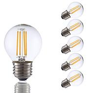 3.5 E26/E27 LED filament žarulje G16.5 4 COB 350 lm Toplo bijelo Može se prigušiti AC 110-130 V 6 kom.