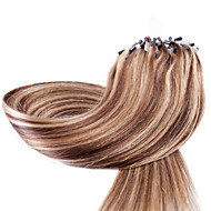 neitsi 20 '' 50g ευθεία μικρο συνδέσεις δαχτυλίδι βρόχο ombre επεκτάσεις ανθρώπινα μαλλιών 1g / s 100% remy μαλλιά