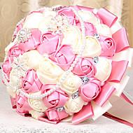 """פרחי חתונה עגול ורדים זרים חתונה/ אירוע טפטה 19.7""""(לערך.50ס""""מ)"""