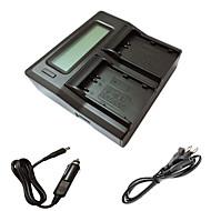 ismartdigi el3e LCD dual punjač s auto naboja kabel za Nikon D90 D80 D300S D300 D700 D200 enel3e batterys fotoaparate