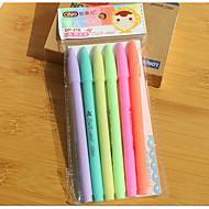 6 couleurs belles pastels de papeterie créative