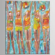 Peint à la main Abstrait / Personnage Peintures à l'huile,Modern / Classique Un Panneau Toile Peinture à l'huile Hang-peint For
