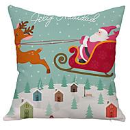 1 ks Bavlna / Lněný Povlak na polštář,Prázdninový Zvýraznění / dekorace