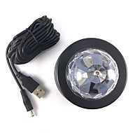 1PCS 3WCar DJ LED Lamp Car LED Decorative Lamp RGB LED Car DJ Lamp