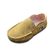 Boy's Loafers & Slip-Ons Spring / Summer / Fall / Winter Moccasin Suede Outdoor / Office & Career / Casual Flat Heel Slip-onYellow /