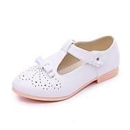 플랫-야외 캐쥬얼 드레스-여아-컴포트 신발에 불-PU-플랫-화이트 블랙 레드 핑크