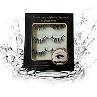 2000 Eyelashes Full Strip Lashes Eyelash Natural Long / The End Is Longer Handmade Animal wool eyelash Black Band