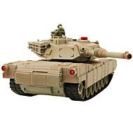 Tank S.X.Toys 1:14 RC Car Geel / Groen Klaar om te gebruiken Tank / Afstandsbediening/Zender / Batterij Oplader / Batterij voor de auto