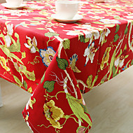 ריבוע מעוטר / פרחוני כיסויי שולחן , תערובת כותנה חוֹמֶר שולחן אוכל במלון / שולחן Dceoration