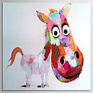 Peint à la main Abstrait / Animal Peintures à l'huile,Modern / Classique Un Panneau Toile Peinture à l'huile Hang-peint For Décoration