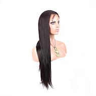 """10 """"-26"""" glueless peruca dianteira do laço direto brasileiro cor do cabelo virgem # 2 escuro cabelo do bebê marrom para as mulheres negras"""