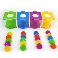 többszínű hordozható akril madár játékok 1db