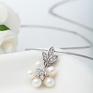 Dámské Náhrdelníky s přívěšky Perly Zirkon Cute Style Euramerican Bílá Šperky Svatební Párty Halloween Denní Ležérní 1ks